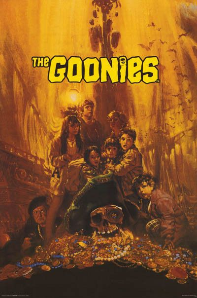 Goonies Treasure Pile Cast Art Movie Poster 24x36