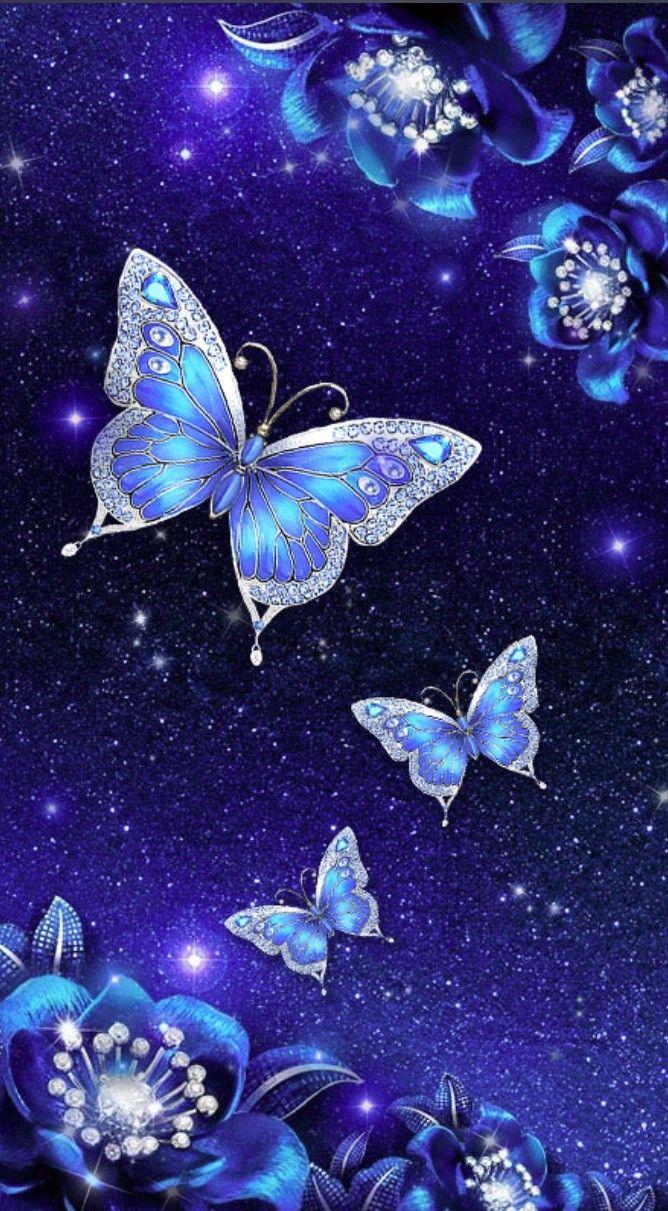 Pin By Diane On Butterfly Wallpaper Blue Butterfly Wallpaper Butterfly Wallpaper Beautiful Butterflies Art