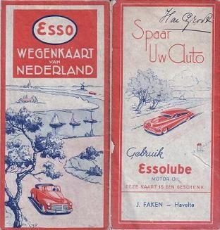 Esso map Netherlands 1946