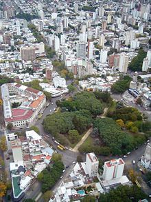 La plata is the Capital city of the Province of Buenos Aires in Argentina.  This  rationalist designed urban metropolis has a park or square every six blocks which funcion as the green lungs for the city. The city is known as the 'city of diagonals' due to the street layout, which run along two main diagonal avenues. The streets and squares are lined with Linden trees (tilia) giving La Plata its other nickname - 'la ciudad de los tilos.