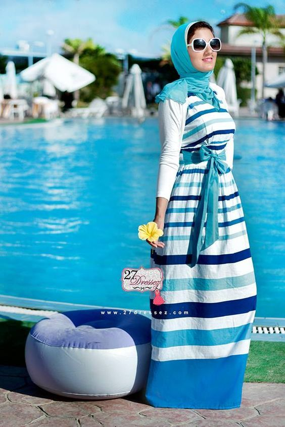 hijab maxi dress summer style, http://www.justtrendygirls.com/hijab-casual-styles-by-27dresses/