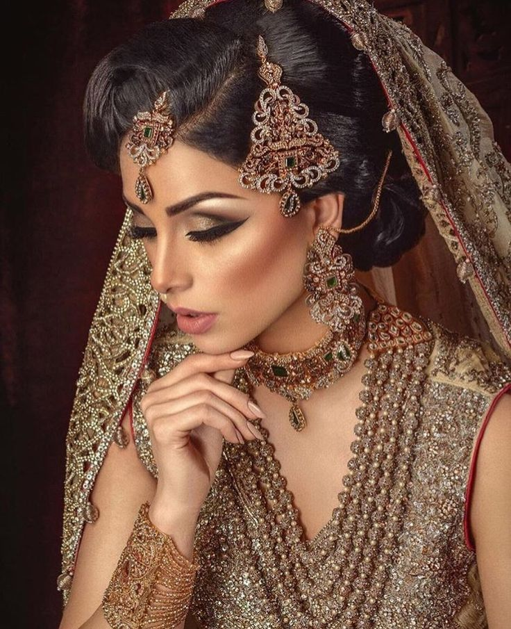 Throat asian hair jewellery