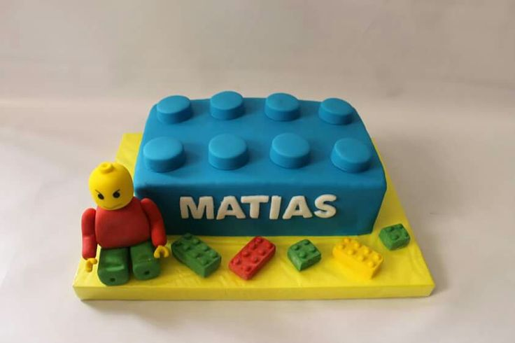 Torta Lego 100 % Comestible.