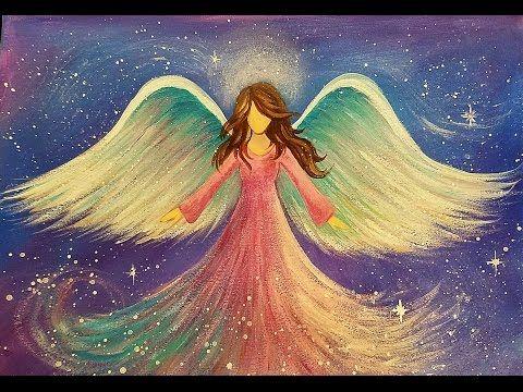 Angel Acrylic Painting Easy Beginner Tutorial Live