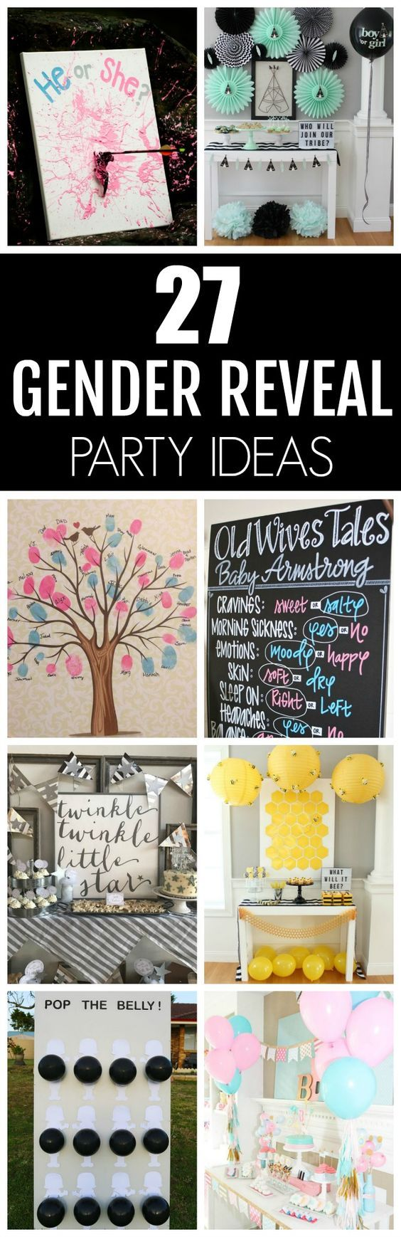 27 Creative Gender Reveal Party Ideas #genderreveal #genderrevealparty #genderrevealpartyideas