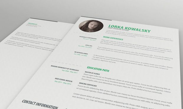 Single Page Resume Template And Cover Letter. Simple, Minimalistic One Page  Resume So Feel Free And Visit Our Webpage For More Information