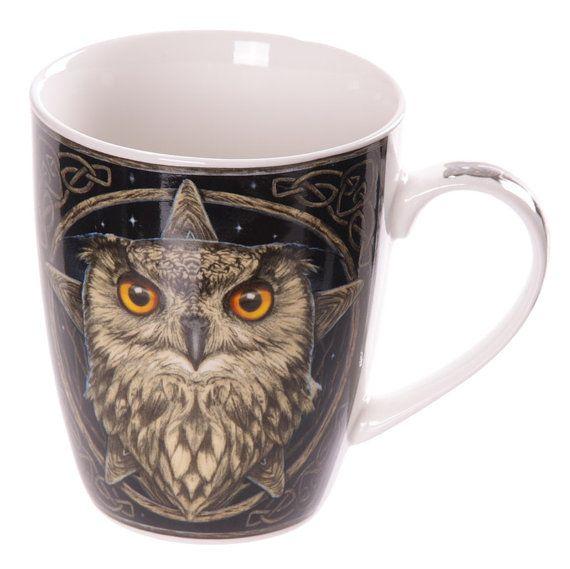 Coffee Mug New Bone China Cute Wise Owl Design by getgiftideas