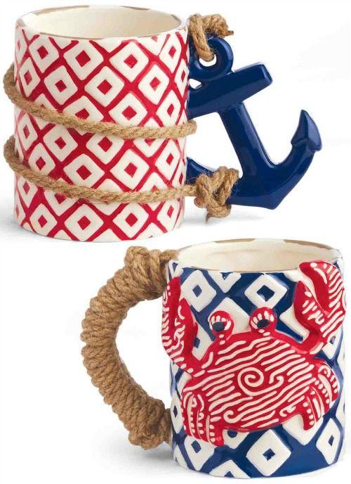 Crab and Anchor Mug