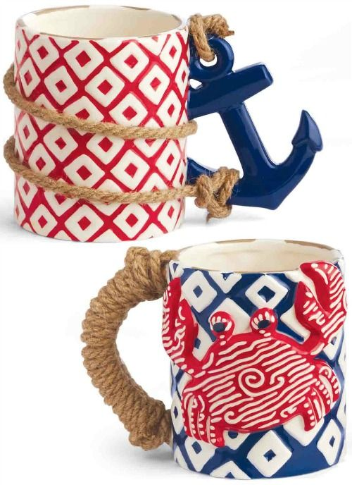 Cute nautical mugs with rope accent: http://www.completely-coastal.com/2016/02/beach-nautical-flash-sales-at-coastal-bella.html