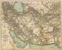 This is a really old and really cool historical map of Persia, Afghanistan