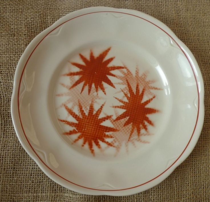 VTG Old USSR Soviet Latvia Porcelain Collectors Plate mark RPF Riga White Red