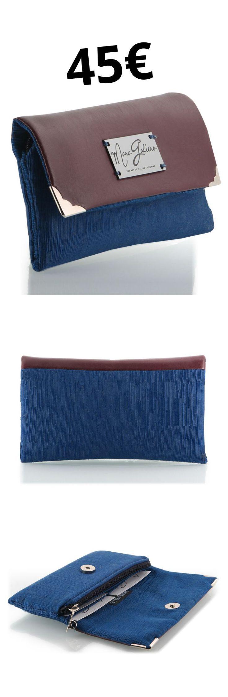 #italianStyle #wearItalian #madeinitaly Portafogli in pelle e cotone rasato o lana. Dotato di zip porta monete e divisore per documenti. Il colore blu è cotone rasato mentre il colore nero è lana. Angolari in nickel. Dimensioni: 20×11 cm