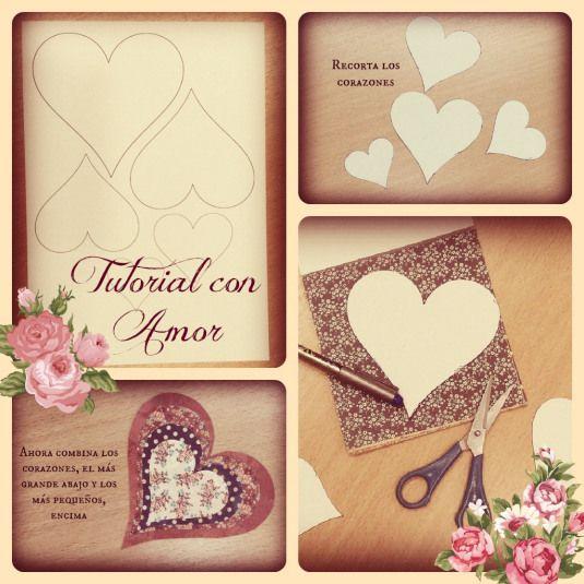 Mini-tutorial corazones … Con amor!