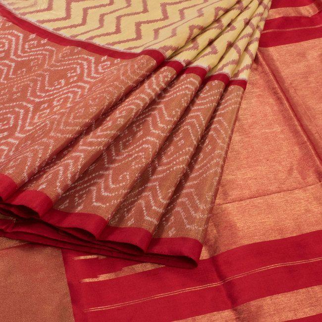 Sarveshi Handwoven Ikat Silk Saree with Tissue Border 10007267 - AVISHYA
