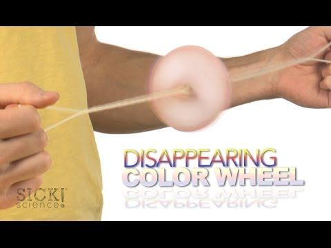 Also a fun way to show white is actually made of all colors, we have been talking about this and how colors reflect what actually isn't there like if something is green it has all colors but green on it. Disappearing Color Wheel - Sick Science! #182 - YouTube