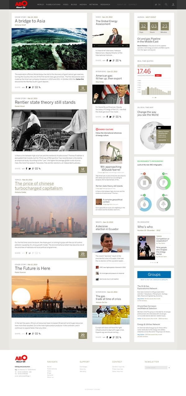 Abo Oil - Web Magazine / Concept Redesign on Web Design Served