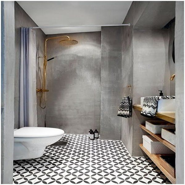 Amlo 8″ x 8″ Handmade Cement Tile in White and Black