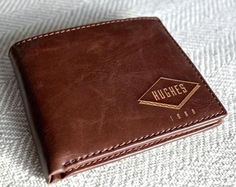 Men's Leather Wallet: Diamond - Swanky Badger
