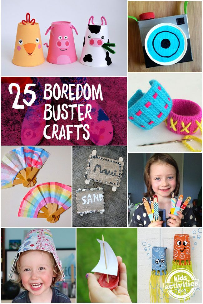 """Mom, I'm Bored!"" 25 Summer Boredom Buster Crafts"