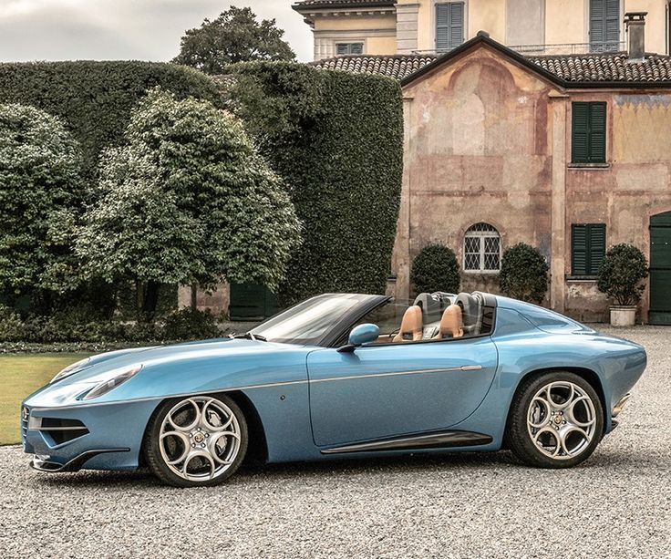 touring superleggera uses hand beaten aluminum panelling with carbon fibre for two-seater