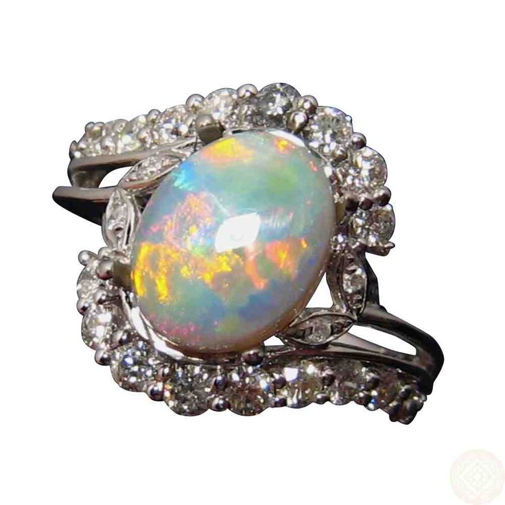 real opal engagement rings - Black Opal Wedding Rings