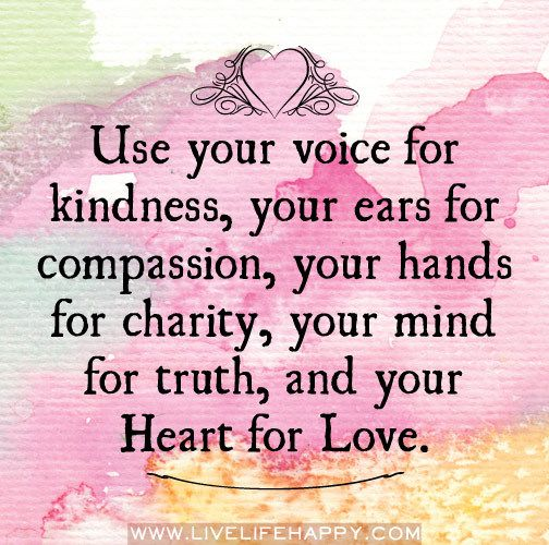 GREAT REMINDER to...Love in Actions not just words