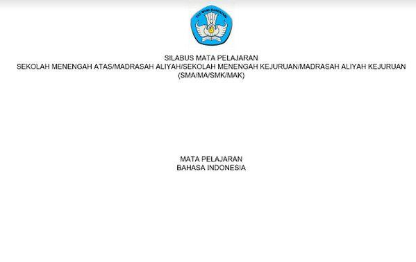 Silabus Bahasa Indonesia Sma Kurikulum 2013 Revisi 2017 Pdf Bahasa Indonesia Kurikulum Bahasa