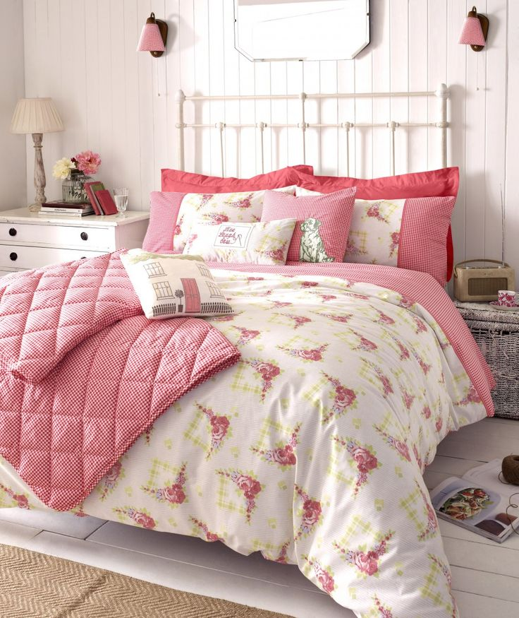 Kirstie Allsopp Gingham Roses Bedding Set A