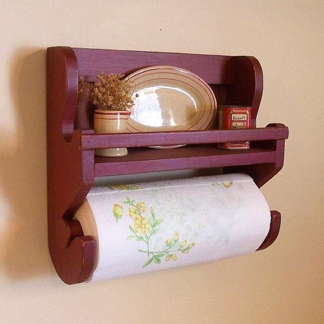 Primitive paper towel holder