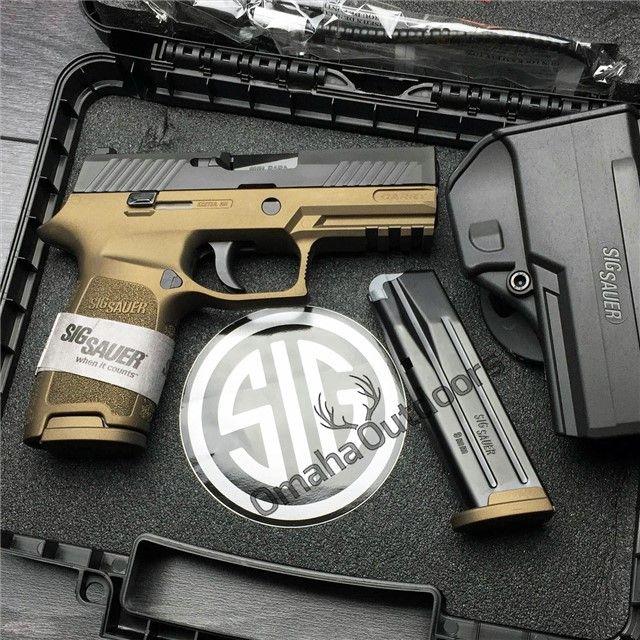 """Sig Sauer P320 Carry Burnt Bronze 9mm 17 RDS 3.9"""" Handgun - $629.00"""