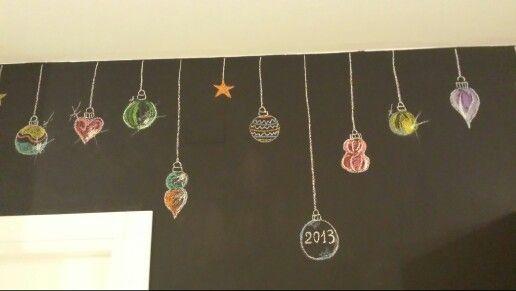 Lavagna parete, Natale