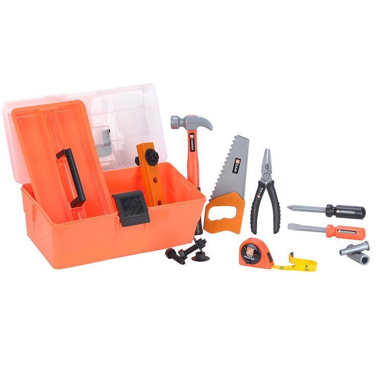 Toy Tool Kits For Girls : The home depot deluxe toolbox toys r us quot