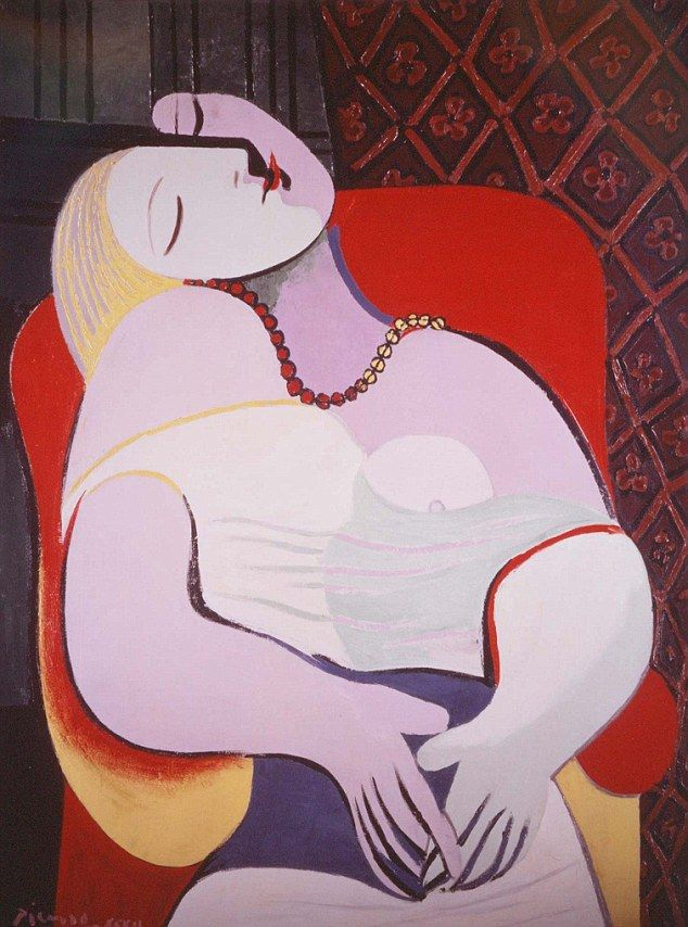 Sought after: Pablo Picasso's Le Reve (The Dream), has just been sold for $155million to a billionaire hedge fund manager