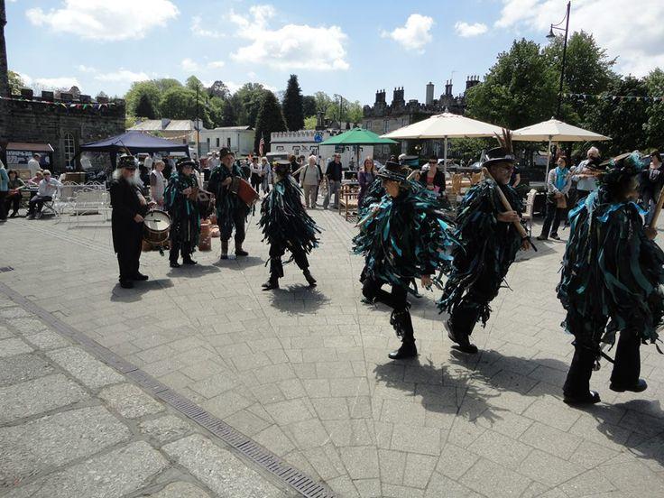 Moris dancers performing on Bedford Square.