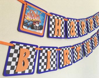 Hot Wheels Birthday Banner/Hot Wheels Party by GKLLDesigns on Etsy