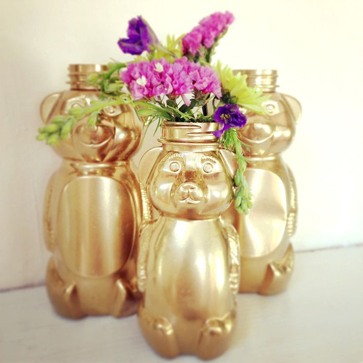 "Look at this adorable family of honey bears — doesn't it remind you of ""The Story of the Three Bears""? Upcy..."