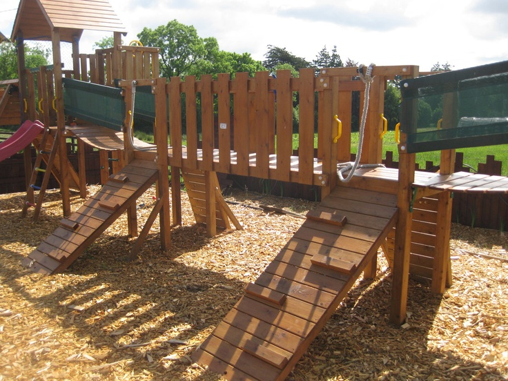 165 best swing sets forts tree houses images on for Swing set bridge