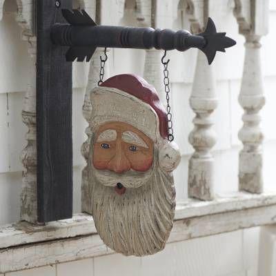 Hanging Sign - Santa Face