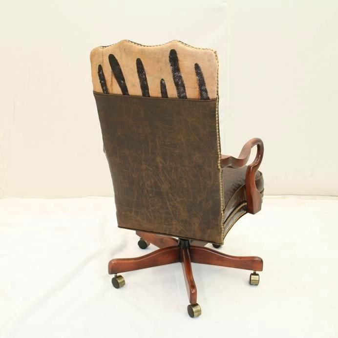 Rustic Desk Chair Western Office