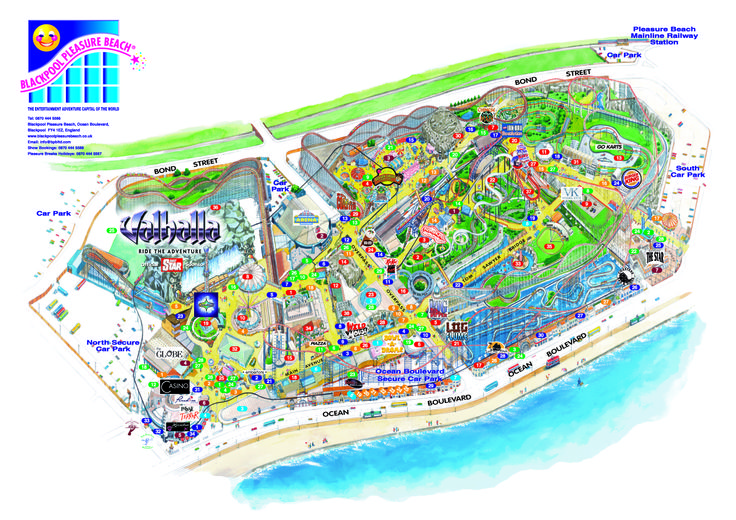 Blackpool Pleasure Beach D Map From Fitzpatrick Woolmer D Maps - Blackpool map
