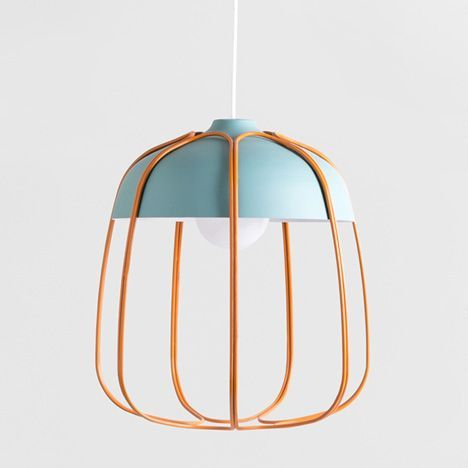 Tull Lamp by Tommaso Caldera. Fantastic combination of colors and materials. Love the openness and simplicity of this fixture.
