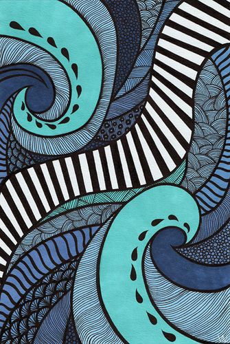 Tidal | Lorrie Whittington via Flickr: ink and Prismacolor on A4. Originally created to support the Earth Hour initiative.