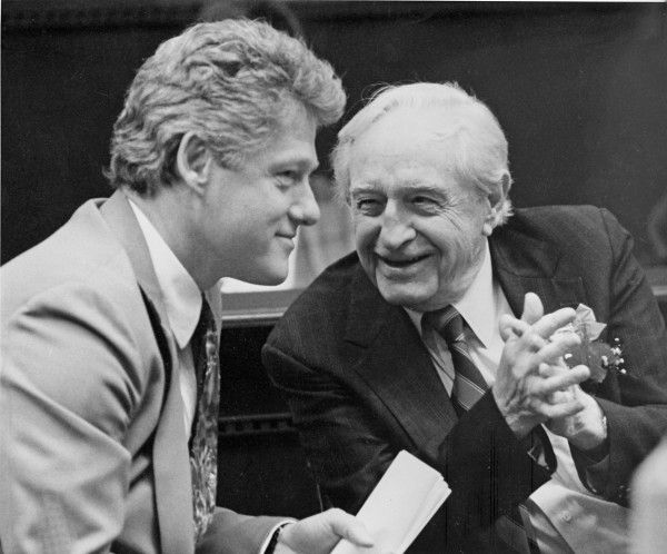 Orval Faubus was a staunch racist he hated blacks, he was a Democrat and he died a Democrat. Picture of Democrat Bill Clinton with Orval Faubus.