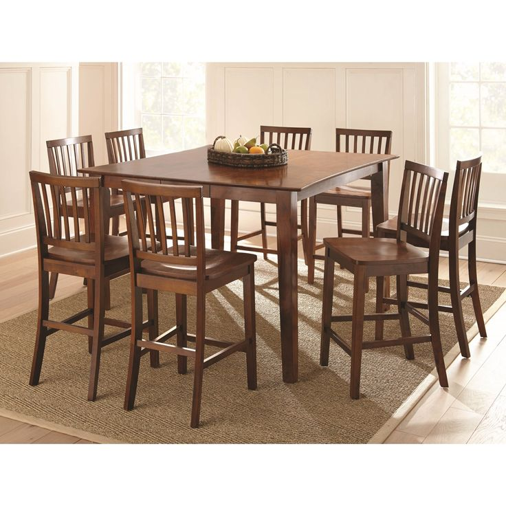 Bridgeport Counter Height Dining Set By Greyson Living (Bridgeport 7PC Counter  Set), Brown