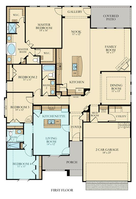 11 best Multi-Generational Floor Plans images on Pinterest ...