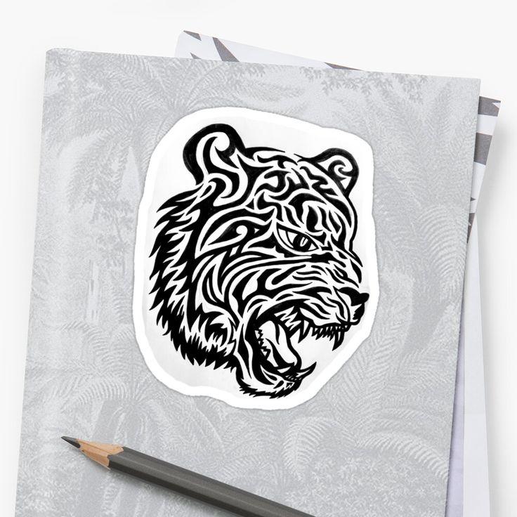 Tiger Tattoo Sticker Tiger tattoo, Tribal artwork