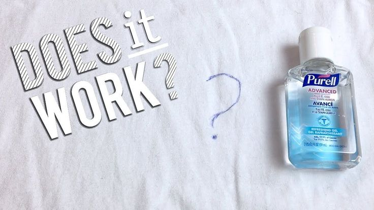 How get ink stains out of fabric hand sanitizer tested