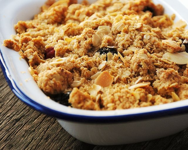 Hét basis recept voor het altijd-goed-dessert: fruit crumble