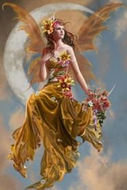 Áine is an Irish goddess of summer, wealth and sovereignty. She is associated with midsummer and the sun, and is sometimes represented by a red mare. She is the daughter of Egobail, the sister of Aillen and/or Fennen, and is claimed as an ancestor by multiple Irish families. As the goddess of love and fertility, she had command over crops and animals and is also associated with agriculture.
