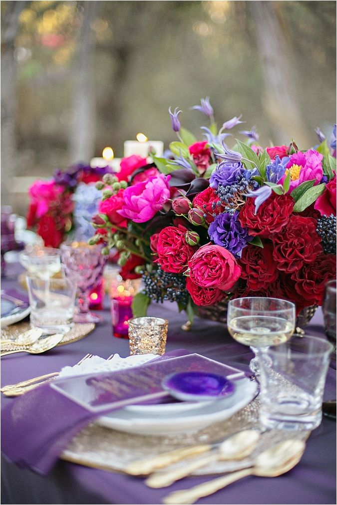 Enchanted Purple And Red Elopement Inspiration See More On Thesoutherncaliforniabride